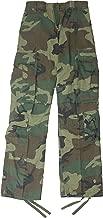 Woodland Camouflage Vintage Military BDU Paratrooper Cargo Fatigue Pants