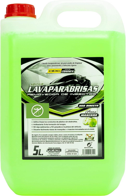 ABC CAR CLEANERS MOT20325MA LAVAPARABRISAS AROMA MANZANA 1 GARRAFA 5 LITROS, 1 UD