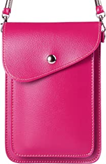 Women's PU Leather Vertical Cross-Body Bag Wallet Purse Compatible for Samsung Galaxy S9+ S9 S8+ S8 / Note 8 9 / A5 A6 A7 A8 J5 J6 J7 J8 / Nokia 7 Plus 5 6 8 / HTC U12+ / Desire 12 / U11 Eyes Pink