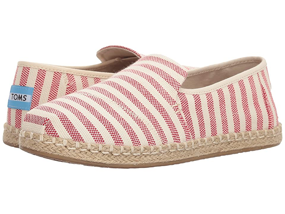 TOMS Deconstructed Alpargata Rope (Red Woven Stripe) Women