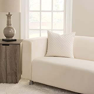 SIScovers Lyra Ivory Square Decorative Accent Pillow Large 20 x 20