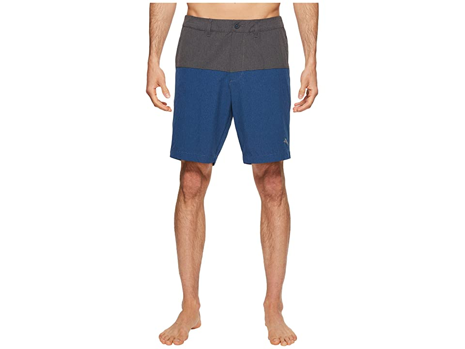 Tommy Bahama Cayman Block and Roll Swim Trunk (Deep Marine) Men