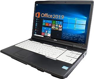 富士通 ノートPC A561/MS Office 2019/Win 10/15.6型/FullHD/Core i3-2350M/4GB/120GB SSD (整備済み品)