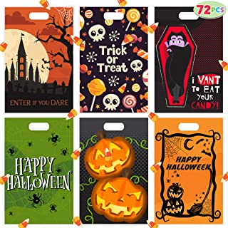 "72 Halloween Goodie Bags 11""x17"" for Trick-or-Treating, Halloween Party Favors, Snacks, Event Party Favor Supplies, Goodie..."
