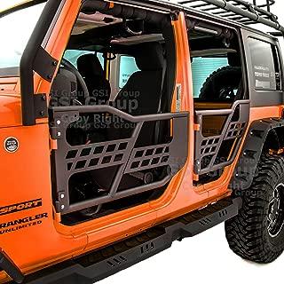 GSI Rock Crawler Off Road Front+Rear Tubular Door (4 door model) without Mirror Textured Black for 07-18 Jeep Wrangler JK