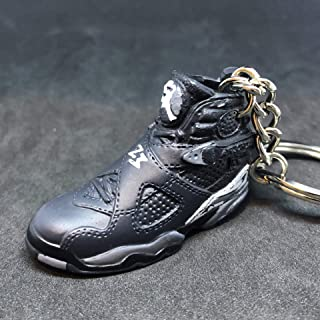 Air Jordan VIII 8 Retro Chrome Black Grey OG Sneakers Shoes 3D Keychain Figure 1:6