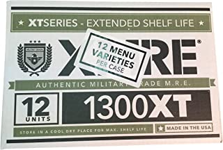Ozark Outdoorz, LLC 2019 Pack Date/2024 Best by Date XMRE 1300XT (Meals Ready to Eat) - Case of 12
