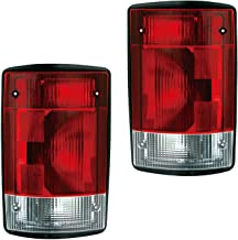Aftermarket Replacement Left Driver and Right Passenger Sides Pair Tail Lights for 2004 2005 2006 2007 2008 2009 2010 2011 2012 2013 Ford Econoline Van E150 E250 E350 and 2004 2005 Ford Excursion