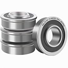 "XiKe 4 Pcs Flanged Ball Bearings ID 3/4"" x OD 1-3/8"", Applicable Lawn Mower, Wheelbarrows, Carts & Hand Trucks Wheel, Replacement 532009040, AM118315, AM127304, 10513, 251210 Etc."