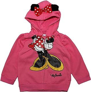 con cappuccio e fiocco Disney Felpa con cerniera di Minnie