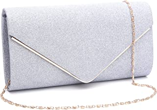f964ff870b GESU Womens Shining Envelope Clutch Purses Evening Bag Handbags For Wedding  and Party