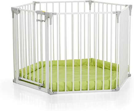 Hauck Baby Park-White, 6 Sided Playpen With Playmat