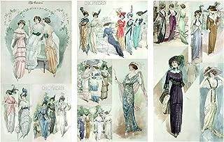 Victorian Girls Portraits FLONZ Vintage Paper 10sheets A4//8x12 Decoupage Paper Pack