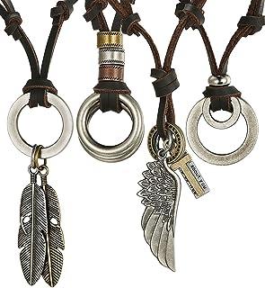 cadeau pour lami collier avec pendentif tribal noir en acier inoxydable personnisable cha/îne pour homme Bijoux Hanessa pour hommes