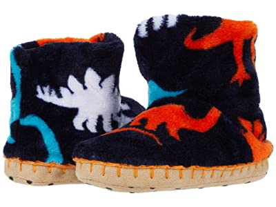 Hatley Kids Silhouette Dinos Fleece Slippers (Toddler/Little Kid) (Blue) Boy