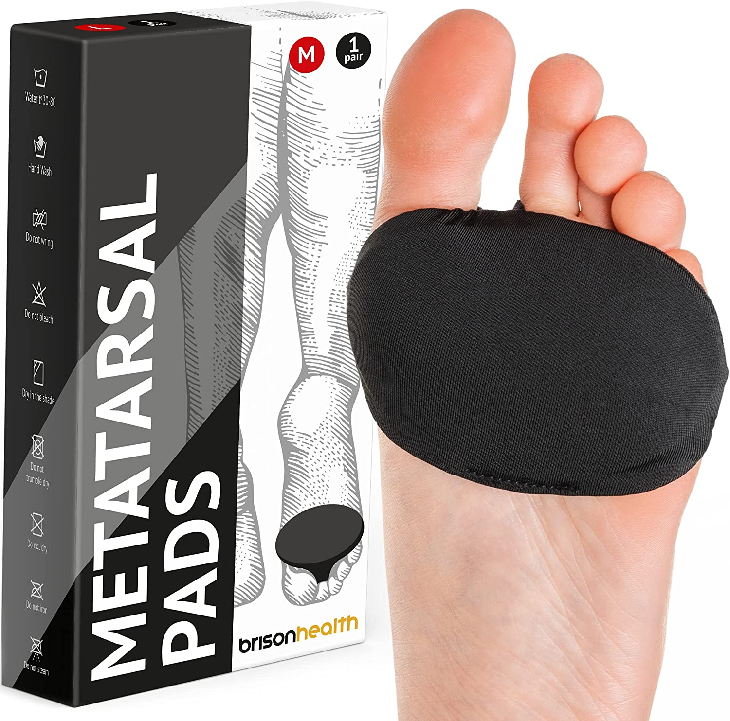 Fabric free shipping Metatarsal Pads - Ball of Se Sleeves Cushion Burning Foot Sale special price