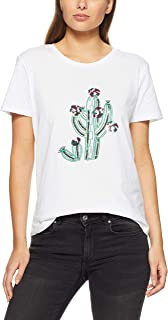 French Connection Women's Cactus TEE, Summer White/Multi
