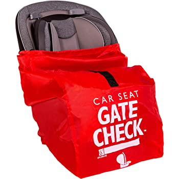 J.L. Childress Gate Check Bag for Car Seats - Air Travel Bag - Fits Convertible Car Seats, Infant carriers & Booster Seats, Red