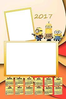 Personalisierte Kalender 2017 mit 2 Fotos, Art.342 Minions, Format 30 x 45 Komplett von Bewerbungsset und fer34 Wand. B01LYDABQM  Neuankömmling