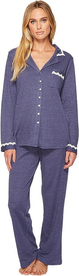Eileen West - Cotton Interlock Notch Collar Pajamas