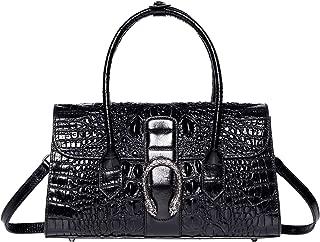 PIJUSHI Womens Top Handle Handbags and Purses Crocodile Bags for Laides