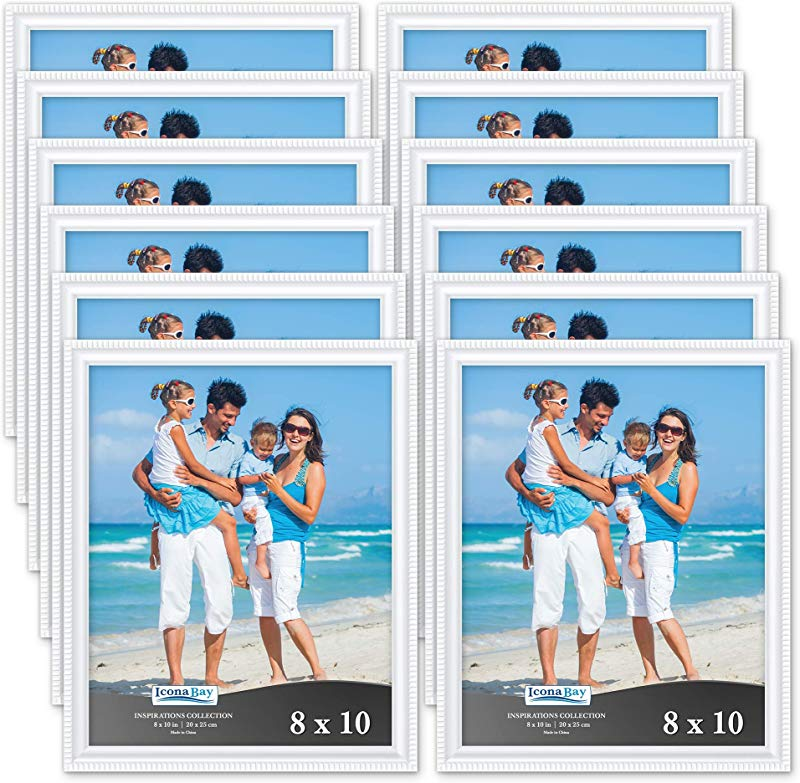 Icona Bay 8x10 Picture Frames 12 Pack White Picture Frame Set Wall Mount Or Table Top Set Of 12 Inspirations Collection