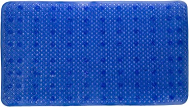 YHLCSQ Soft As Grass Bath Mats Shower and Tub Mat Foot Scrubber Non-Slip Anti-Bacterial Machine Washable PVC Suction Recta...