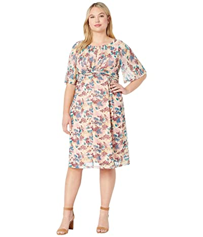 Kiyonna Katarina Mesh Dress (Pressed Flowers) Women
