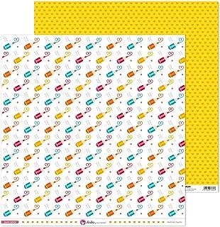 Anita y Su Mundo Colección Puro Amor Papiers de scrapbooking, Crayons, 30,5 x 30,5 cm