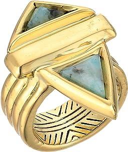Pyramid Stone Ring