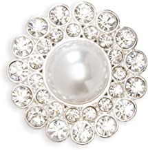 Darice, David Tutera Illusion, 6 Piece, Crystal Rhinestone and Pearl Magnet Brooches