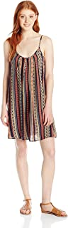 Angie Women's Juniors Vertical Stripe Sundress
