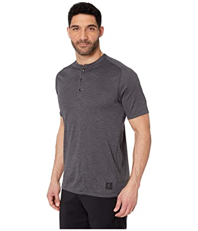 adidas Golf Adicross No-Show Transition Short Sleeve Henley (Carbon) Men