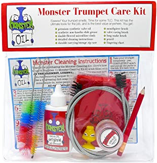 Monster Trumpet/Cornet Care and Cleaning Kit | Valve Oil, Slide Grease, and More!..