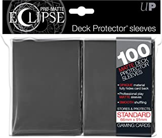Ultra Pro Matte Eclipse Smoke Grey Standard Deck Protector Sleeves (100 Count Pack), One Size