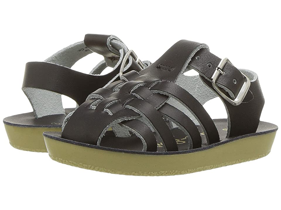 Salt Water Sandal by Hoy Shoes Sun-San Sailors (Infant/Toddler) (Black) Kids Shoes