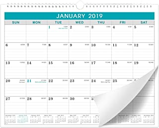 2019 Calendar - Monthly Wall Calendar 2019 with Julian Date, Thick Paper Perfect for Organizing & Planning, 2019 Yearly Planner + Yearly Overview, 11.5 x 15 Inches, Wire-Bound - Lemome