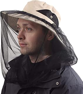 CAMOLAND Sun Hat w/Removable Mosquito Head Net for Outdoors UV Protective