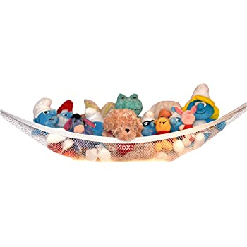 Small Stuffed Animal Hammock, Amazon Com Home4 Stuffed Animal Toy Storage Hammock Net With Fun Poms Poms Organize Small Large Or Giant Stuffed Animals Blue Baby