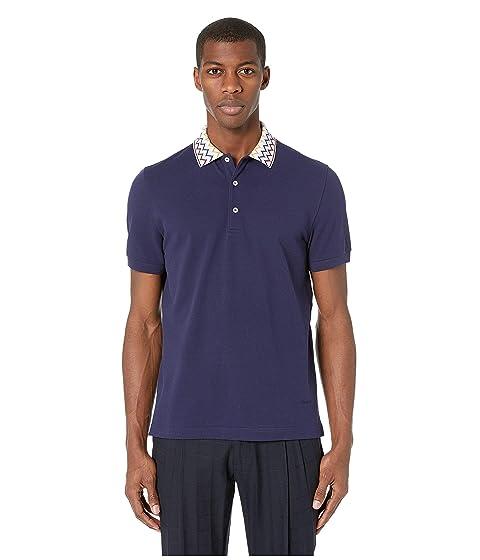 Missoni Cotton Polo with Zigzag Collar