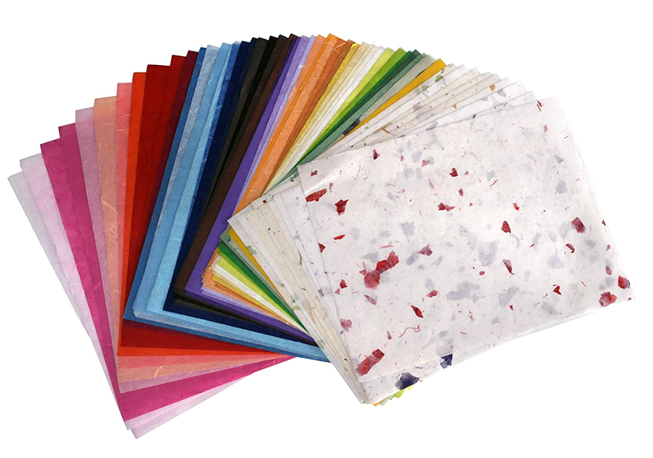 Mulberry paper 9 x 12 inch 75 color for kids art and craft starter kit design paper hand made paper decorative papers handmade paper fiber paper scraps texture paper decorative scrapbook scrapbooking