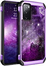 BENTOBEN Samsung S20 FE Case, Galaxy S20 FE Case, Glow in The Dark Dual Layer Hybrid Hard PC Soft TPU Rubber Rugged Anti-Slip Shockproof Protective Cases for Samsung Galaxy S20 FE 4G/5G, Nebula