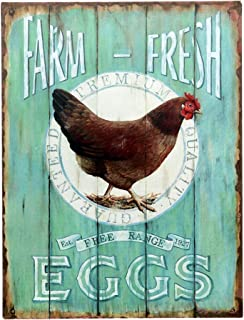 Barnyard Designs Farm Fresh Free Range Eggs Retro Vintage Tin Bar Sign Country Home Decor 10
