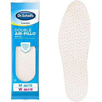 Dr. Scholl's DOUBLE AIR-PILLO Insoles // Cushioning Molds to Your Foot and Absorbs Shock for All-Day Comfort (One Size fits Men's 7-13 & Women's 5-10)