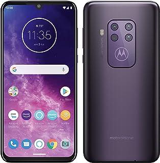 هاتف Motorola One Zoom ثنائي SIM 128 جيجا بايت Factory Unlocked 4G/LTE الذكي (أرجواني مخضر) - الإصدار العالمي