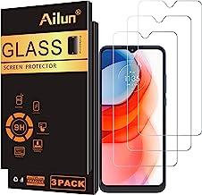 محافظ صفحه نمایش Ailun سازگار با MOTO G play 2021 3 Pack Tempered Glass 9H Hardness Ultra Clear Bubble Free Anti-Scratch Fingerprint Oil Stain Coating Case Friendly