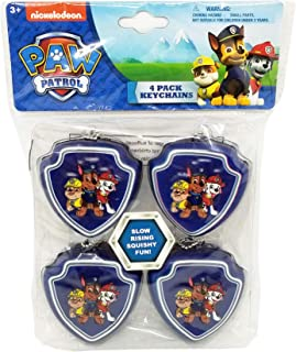4 Pack Paw Patrol Bow Squishy Keychains - Party Favors