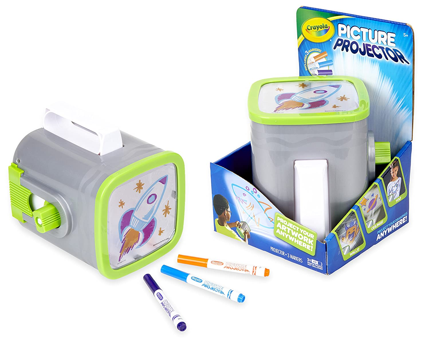 Crayola Picture Projector, Night Light Projector, Kids Flashlight, Gift, Ages 5, 6, 7, 8 kjtiarbmbbu34