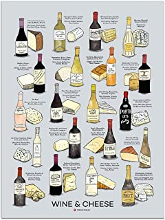 Wine Folly Wine Cheese Pairing Poster Print (18
