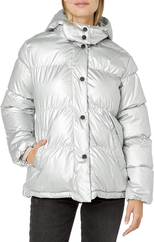 URBAN REPUBLIC Women's Juniors Puffer Jacket Patent Ranking TOP8 2021new shipping free Leather